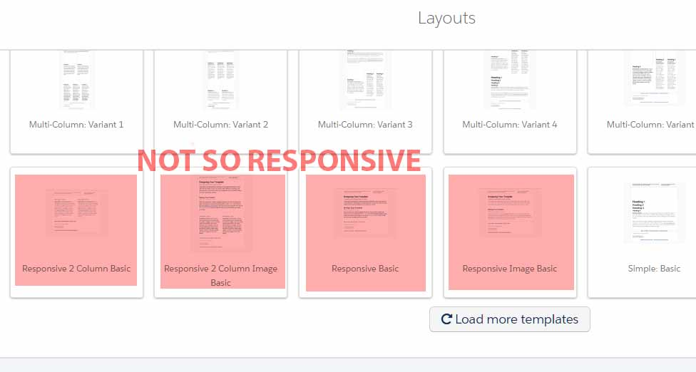 Not So Responsive Pardot Email